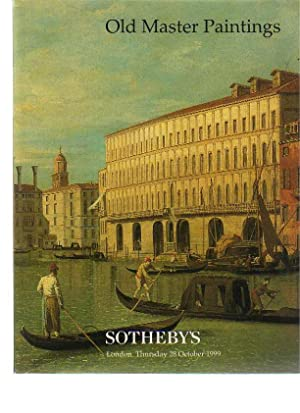 Sothebys 28th October 1999 Old Master Paintings