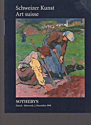 Sothebys 1998 Swiss Art: Sothebys