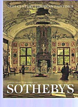 Sothebys September 2000 19th Century European Paintings: Sothebys