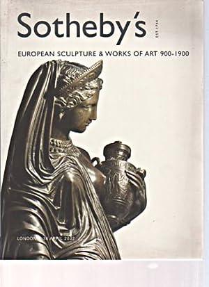 Sothebys April 2002 European Sculpture & Works: Sothebys