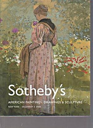 Sothebys 2003 American Paintings, Drawings, Sculpture: Sothebys