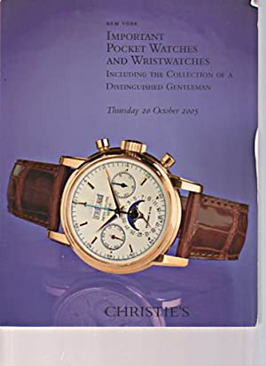 Christies October 2005 Important Pocket Watches and: Christies