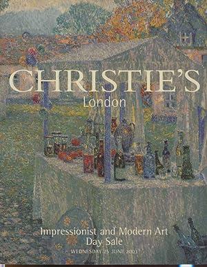 Christies June 2003 Impressionist and Modern Art: Christies