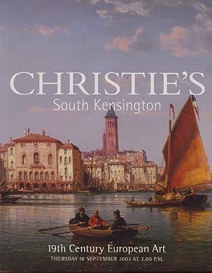 Christies September 2003 19th Century European Art: Christies
