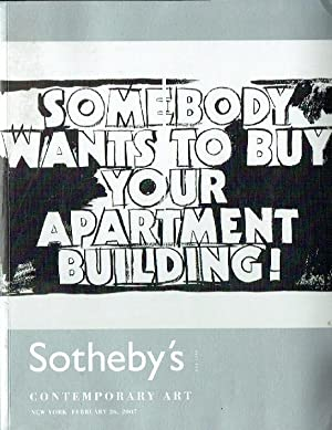 Sothebys February 2007 Contemporary Art: Sothebys