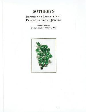 Sothebys November 1995 Important Jadeite and Precious: Sothebys