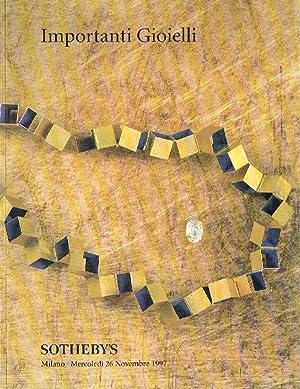 Sothebys November 1997 Important Jewellery: Sothebys