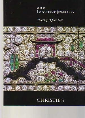 Christies June 2006 Important Jewellery: Christies