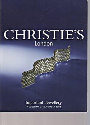 Christies 2002 Important Jewellery: Christies