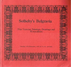 Sothebys December 1978 Fine Victorian Paintings, Drawings: Sothebys