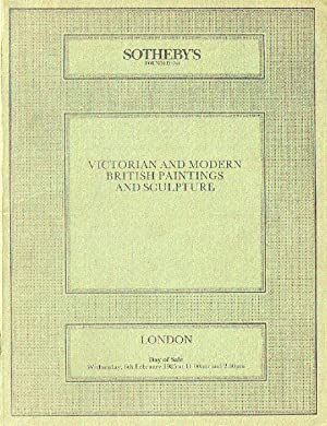 Sothebys February 1985 Victorian & Modern British: Sothebys