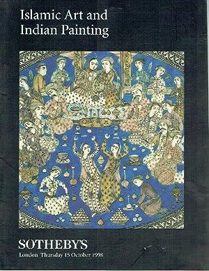 Sothebys October 1998 Islamic Art and Indian: Sothebys
