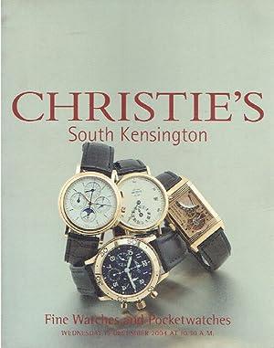Christies December 2004 Fine Watches & Pocket: Christies