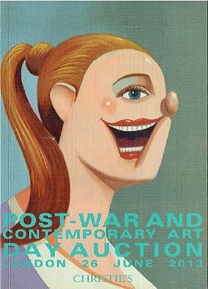 Christies June 2013 Post-War & Contemporary Art: Christies