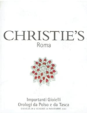 Christies November 2001 Important Jewelry, Wristwatches &: Christies