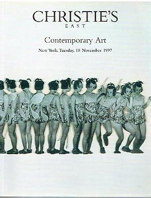 Christies November 1997 Contemporary Art: Christies