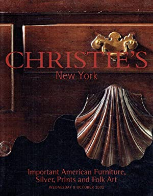 Christies October 2002 Important American Furniture, Silver,: Christies