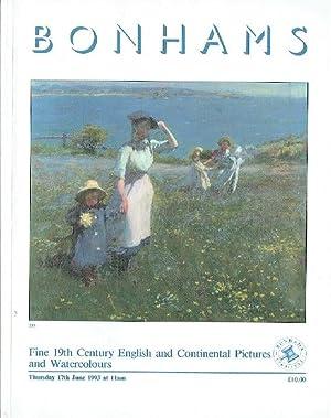 Bonhams June 1993 Fine 19th C English: Bonhams