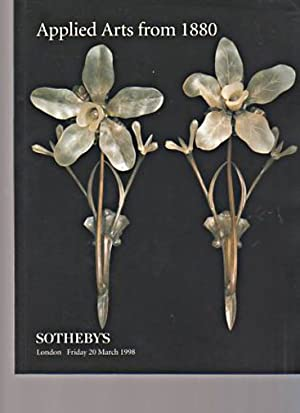Sothebys March 1998 Applied Arts from 1880: Sothebys