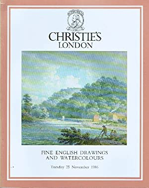 Christies November 1986 English Drawings and Watercolours,: Christies