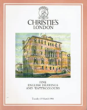 Christies March 1985 Fine English Drawings and: Christies
