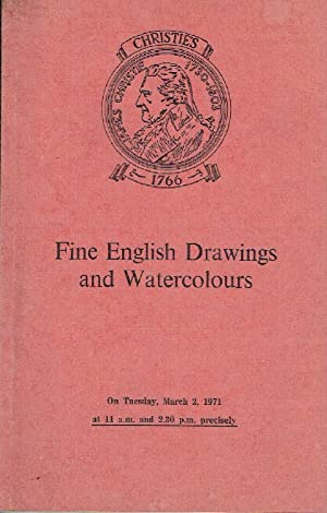 Christies March 1971 Fine English Drawings and: Christies