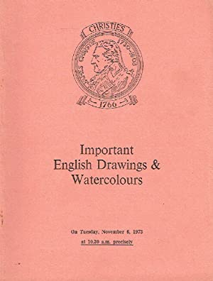 Christies November 1973 Important English Drawings and: Christies