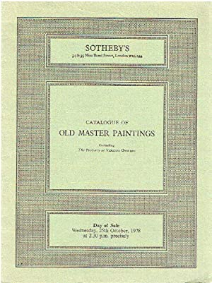 Sothebys October 1978 Old Master Paintings