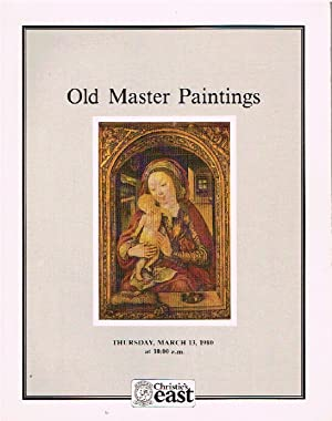 Christies March 1980 Old Master Paintings