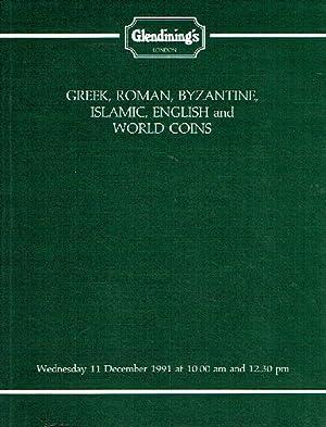 Glendinings December 1991 Greek, Roman, Byzantine, Islamic,: Glendinings