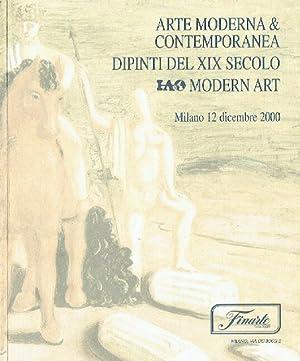 Finarte December 2000 Modern & Contemporary, 19th: Misc.