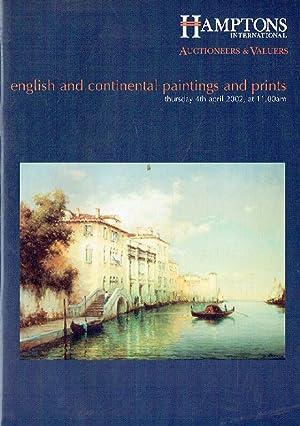 Hamptons April 2002 English & Continental Paintings: Misc.