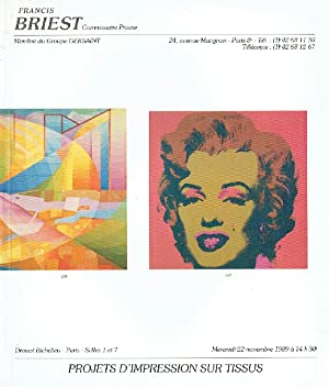 Briest November 1989 Modern Prints & Impressionist: Misc.