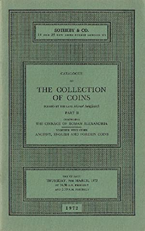 Sothebys March 1972 Collection of Coins -: Sothebys