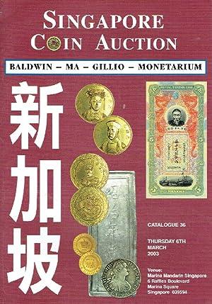 Baldwin-Ma-Gillio-Monetarium March 2003 Coins & Banknotes: Misc.