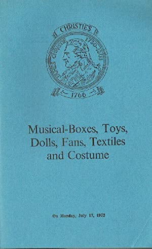 Christies July 1972 Musical Boxes, Toys, Dolls,: Christies