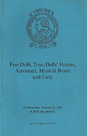 Christies July 1971 Musical Boxes, Toys, Dolls,: Christies