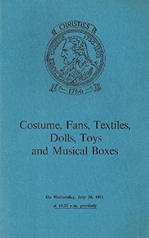 Christies July 1971 Costume, Fans, Textiles, Dolls,: Christies