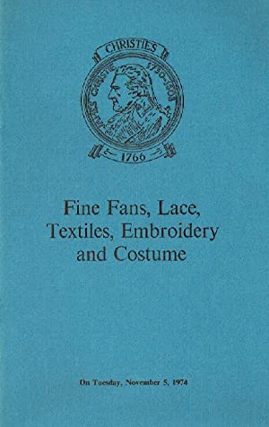 Christies November 1974 Fine Fans, Lace, Textiles,: Christies