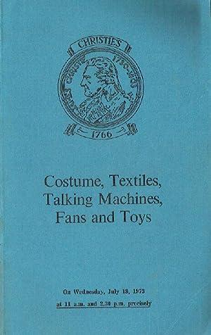 Christies July 1973 Costume, Textiles, Talking Machine,: Christies