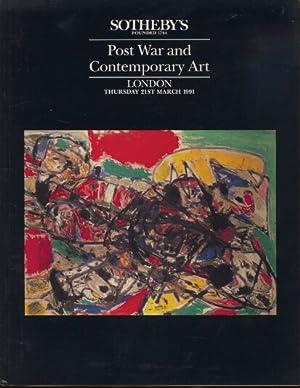 Sothebys 1991 Post War and Contemporary Art: Sothebys