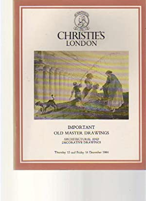 Christies 1984 Important Old Master & Architectural: Christies