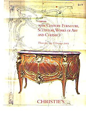 Christies 2005 19th C (French) Furniture, Sculpture: Christies