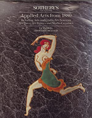 Sothebys 1988 Applied Arts from 1880 inc.: Sothebys