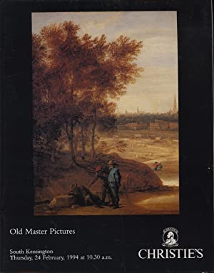 Christies February 1994 Old Master Pictures: Christies