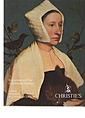 Christies 1992 Important & Fine Old Master Pictures