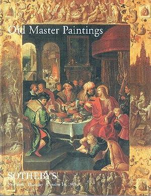 Sothebys October 1999 Old Master Paintings: Sothebys