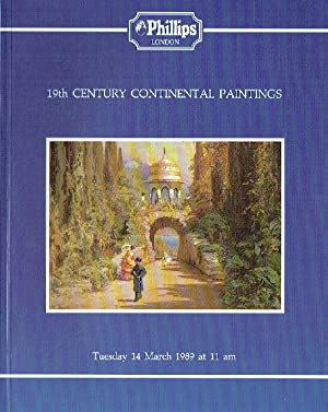 Phillips March 1989 19th Century Continental Paintings: Phillips