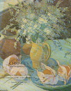 Christies April 1989 Modern British Paintings, Watercolours: Christies