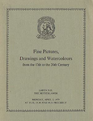 Christies April 1979 Fine Pictures & Drawings: Christies